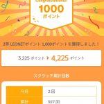 レオネットスクラッチで1,000ポイントが当たった!